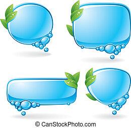 eco, tale, sæt, boble