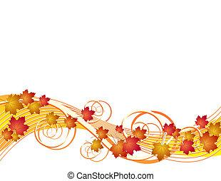 efterår forlader, flyve, baggrund