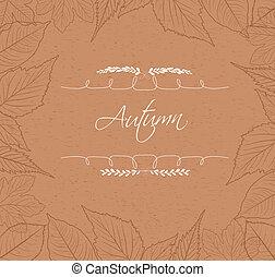 efterår forlader, grænse, baggrund