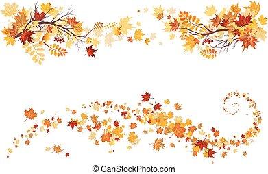 efterår forlader, grænse