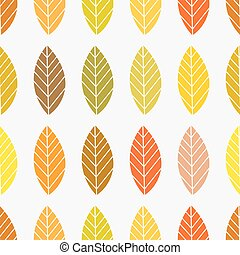 efterår, mønster, blade, baggrund., seamless