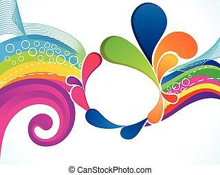 eksplodere, abstrakt, kunstneriske, farverig, bølge
