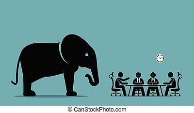 elefant, room.
