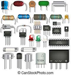 elektroniske, komponenter