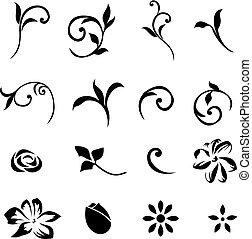 elementer, 01, blomstrede, sæt formgiv
