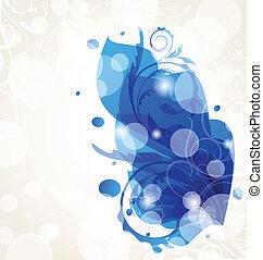 elementer, abstrakt, baggrund, konstruktion, blomstrede, transparent