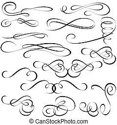 elementer, calligraphic