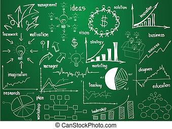 elementer, grafik, diagrammer