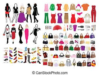 elementer, kvinder, mode
