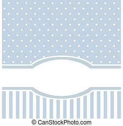 eller, invitation, blå, card, vektor