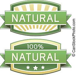 eller, mad, naturlig, etikette, produkt