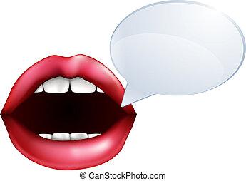 eller, tales, læber, mund