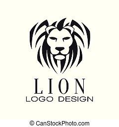 emblem, logo, skjorte, plakat, embem, illustration, element, løve, vektor, konstruktion, t, baggrund, tryk, hvid, tatovering, banner