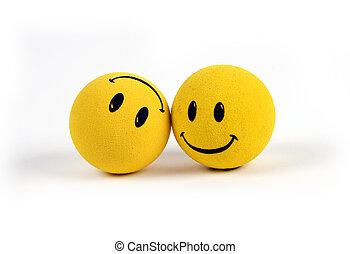 emne, -, gul, smiley ansigt