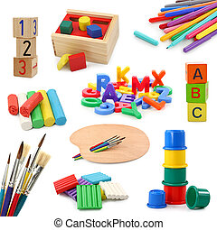 emne, preschool, samling