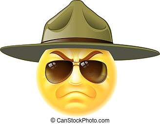 emoji, sergent, bor, emoticon