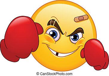 emoticon, bokser