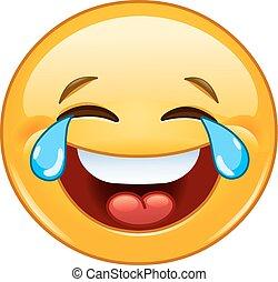 emoticon, glæde, tårer