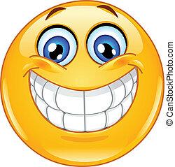 emoticon, stor smile