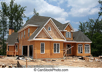 endnu, nye, konstruktion, hjem, under