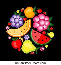 energi, frugt, konstruktion, din, baggrund
