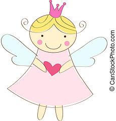 engel, liden, hilsen card