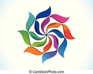 .eps, regnbue, abstrakt, kreative, kunstneriske, blomstrede