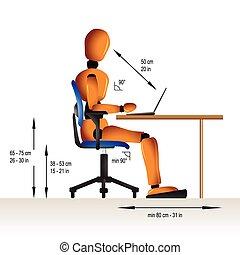 ergonomic, siddende