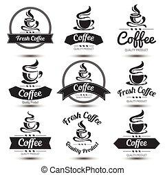 etikette, kaffe