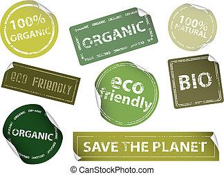 etiketter, eco-friendly