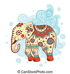 etniske, elefant