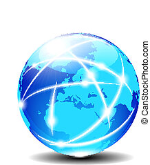 europa, kommunikation, globale, planet