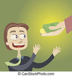 fødsel, credit., penge