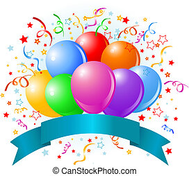 fødselsdag, balloner, konstruktion
