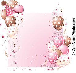 fødselsdag card, lyserød