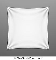 facon, firkantet, hvid, udstræk