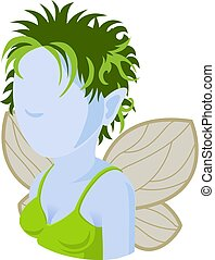 fairy, folk, avatar, ikon