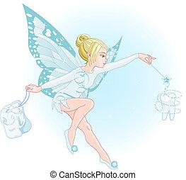 fairy, trylleri stav, tand