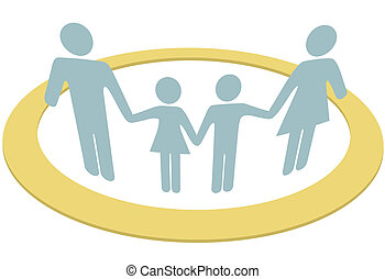 familie, folk, inderside, pengeskab, garanti, cirkel, ring