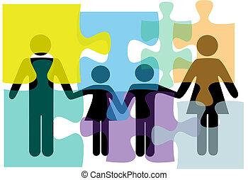 familie, folk, opgave, løsning, sundhed, tjenester, problem