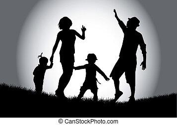 familie, gang