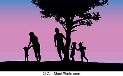 familie, glade