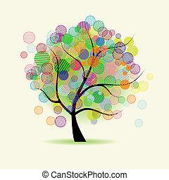 fantasien, kunst, træ