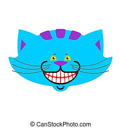 fantastiske, cheshire, trylleri, isolated., alice, kat, yndling, wonderland., dyr, smile