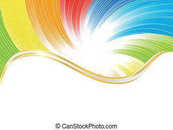 farve, abstrakt, vektor, klar, baggrund