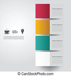 farve, baggrund., abstrakt, vektor, firkantet