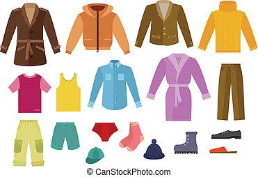 farve, beklæde, samling, mens