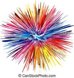 farve, eksplosion