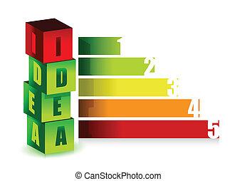 farve, graph, ide, illustration
