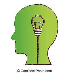 farve image, konstruktion, ideer, tanker